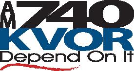 740 KVOR logo