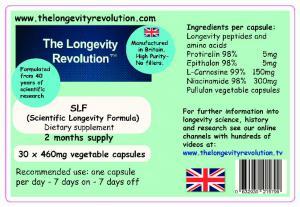 SLF™ the revolutionary new Scientific Longevity Formula™