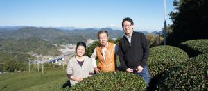 Ian Chun with the Kinezuka family, Japanese tea farmers