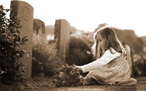 a little girl crying for the loved one who suffered a wrongful death