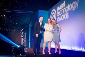 CadmiumCD co-founder, Michelle Wyatt, accepting her company's second ETA award.
