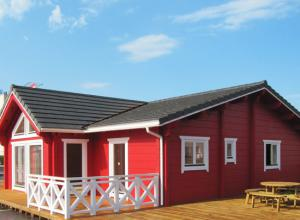 Laminated log homes by Eurodita