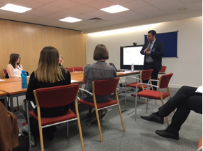 PhD student Wasim Ahmed from Sonic Social Media delivered a research seminar to the Department for Work and Pensions (DWP) Government Office in London. The seminar was also broadcast to members from the DWP Office in Sheffield.