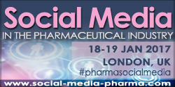 The 9th Social Media in the Pharmaceutical Industry event will take place in January 2017