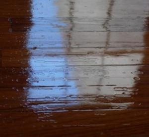 Hard wood floor crawling