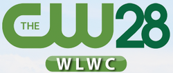 The CW WLWC 28 logo