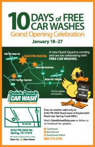 10 Days of Free Car Washes Jan 18-27