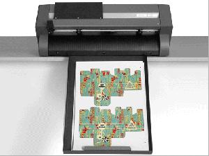 Die cut sheet labels sitting in Gemini