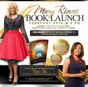 Flyer for Mary Rieves Book Launch