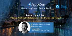 AppZen CEO Anant Kale Presenting AI for the Enterprise at Concur Fusion 2017