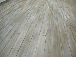 Bleached hard wood floor