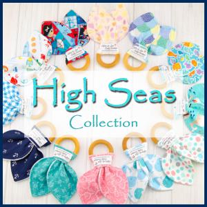 High Seas Collection baby teething ring collage