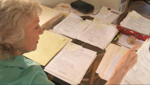 Jennifer Townsend Director/Producer sorts through hundreds 1991 questionnaire responses
