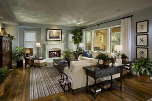 Hard wood floor living room grain