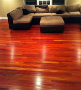 Bloodwood hard wood flooring