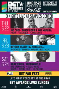BET AWARDS 2017 TICKETS DATES JUNE 22nd-25rd LA LIVE