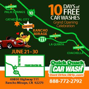 Free Car Washes for 10 Days