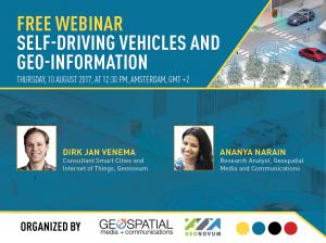 Join the webinar on 'Self-Driving Vehicles (SDVs) and Geo-information'