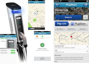 Pay with PlugShare compatible with at SemaConnect EV Stations