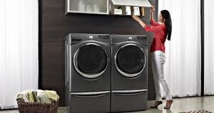 Save up to $250 on select Whirlpool and Maytag laundry pairs during the Appliances Connection Labor Day Sale!