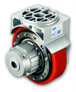Self powered gearmotor castor